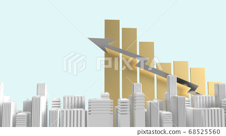 building and chart on blue background for property 68525560