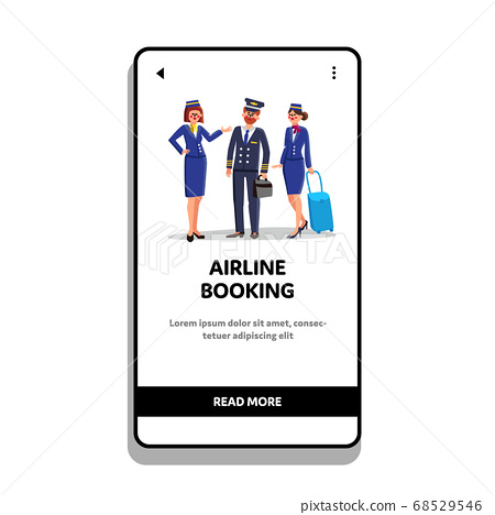 Airline Booking Service For Flying Travel Vector 68529546