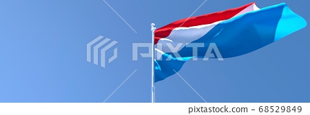 3D rendering of the national flag of Netherlands waving in the wind 68529849