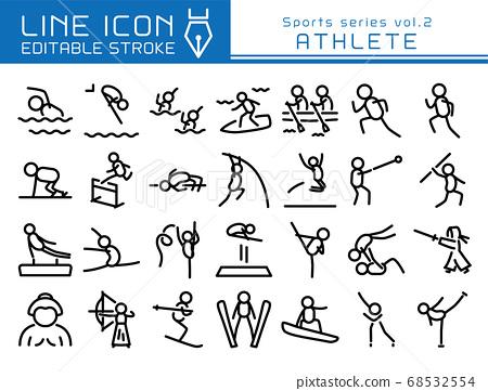 라인 아이콘 스포츠 시리즈 vol.2 여러 스포츠 선수 68532554
