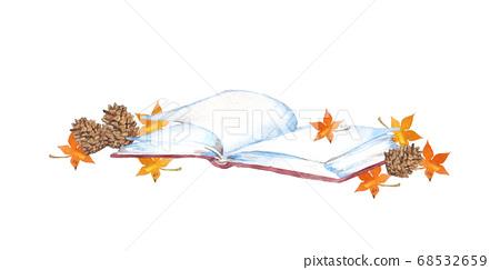 책과 단풍, 독서의 가을 이미지 68532659