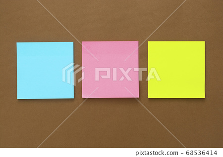 Colorful sticky notes mock up, copy space. 68536414