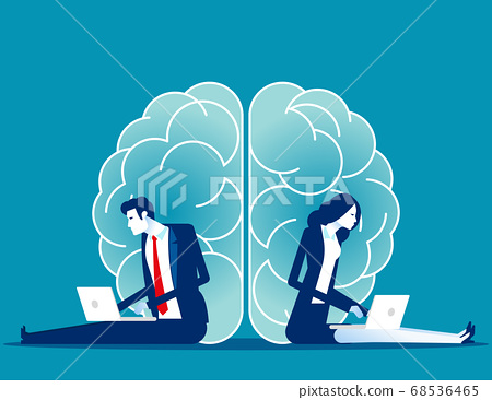 Business brainstorming. Two sides of the brain 68536465