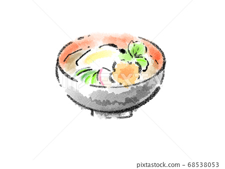 Sumi-e style hand-painted illustration 68538053