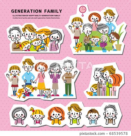행복 가족 세트 68539578