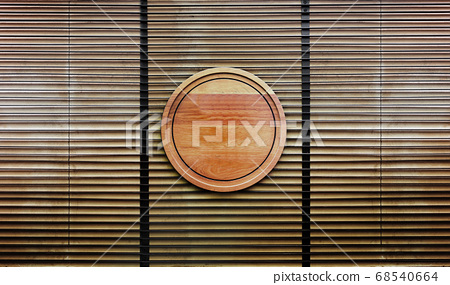 wood banner on wood wall architectur Japaniese 68540664