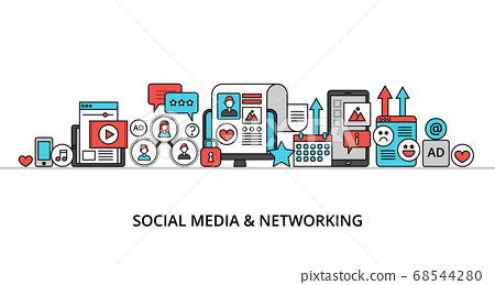 Concept of social media and social networking 68544280
