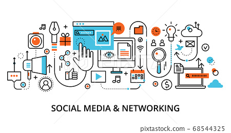 Concept of social media and social networking 68544325