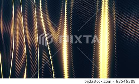 Wave carbon gold soft pattern background 68546589
