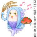 Amabie-kun is happy with a good harvest 68547832