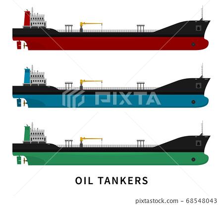 Red green blue black oil tanker set 68548043