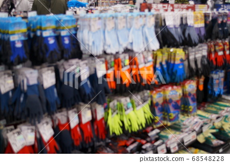 Blurred image of gloves section 68548228