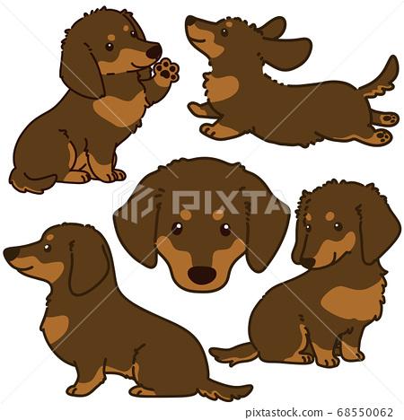 棕褐色迷你臘腸狗造型擺設主線 68550062