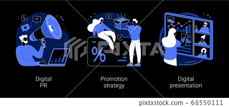 Online marketing campaign abstract concept vector illustrations. 68550111