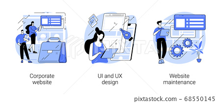 Corporate website abstract concept vector illustrations. 68550145