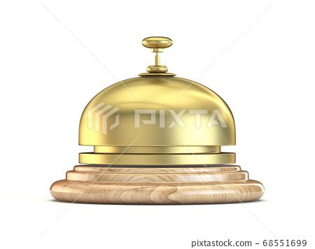 Golden reception bell 3D 68551699