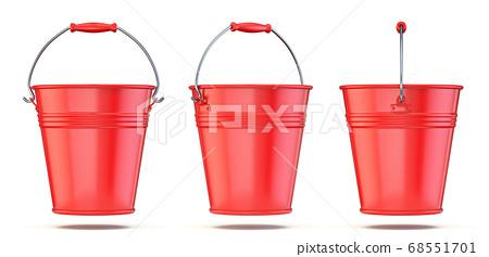 Red bucket 3D 68551701