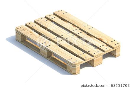 Wooden euro pallet 3D 68551708