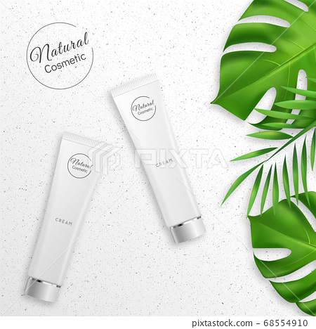 Realistic Cream with Natural Cosmetic Product 68554910