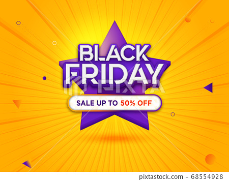 Black Friday Sale with Modern Background 68554928