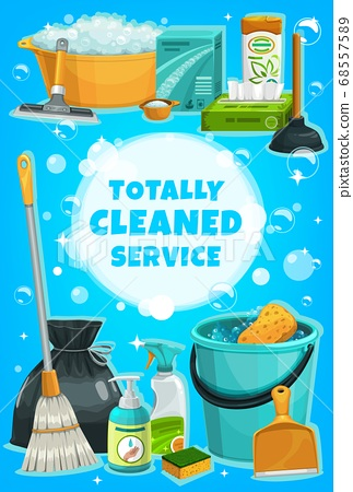 Cleaning service, housework tools and utensils 68557589