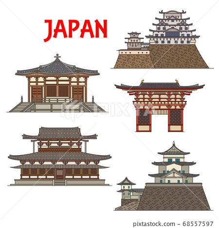 Japanese temples, shrines, pagodas, Japan castles 68557597