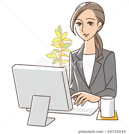 사무직을 비즈니스 여성 68558034