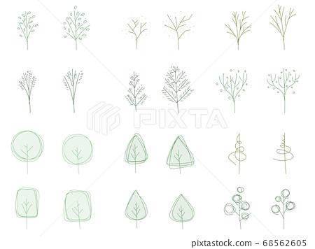 Various Scandinavian trees 68562605