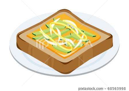 黃瓜和新洋蔥奶酪吐司 68563998