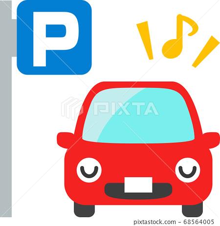 停在停车场的汽车角色 68564005