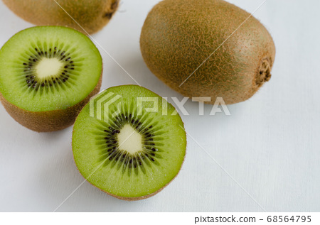Fresh Kiwi on White Background. 68564795