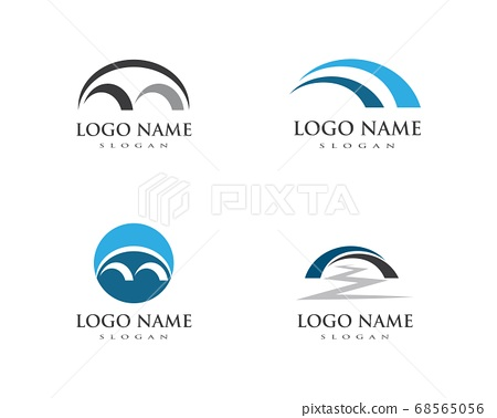 bridge ilustration logo vector 68565056