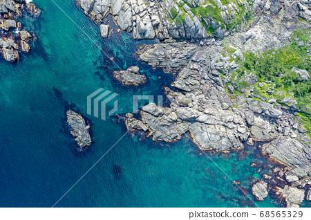 青森縣八戶市Tanesashi Coast National Park的鳥瞰圖 68565329