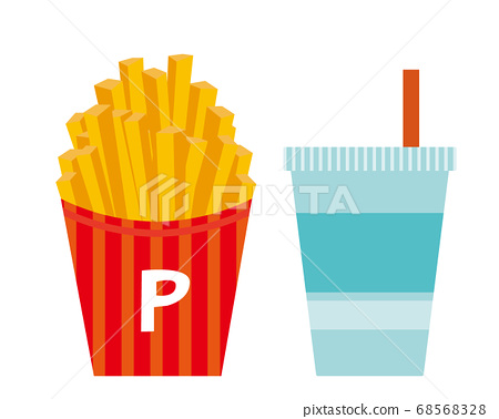 Vector illustration of french fries french fries 68568328