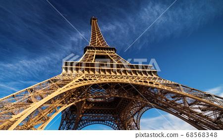 blu sky and Eiffel tower, Paris. France 68568348