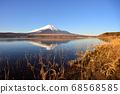 山梨縣山中湖附近的富士山風光 68568585