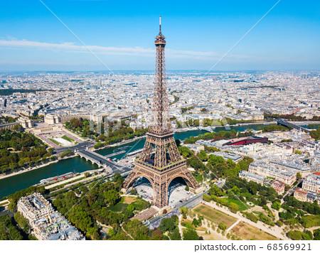 Eiffel Tower aerial view, Paris 68569921