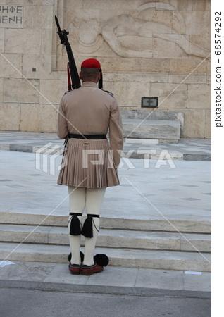 Evzones uniform, the costume of an elite Greek soldier 68574292