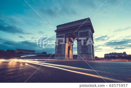 Arc de Triumph at evening, Paris, France 68575957