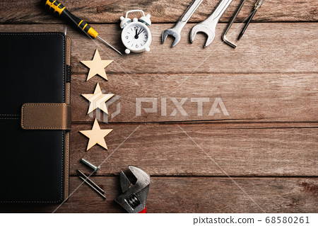 different kind wrenches and book note 68580261