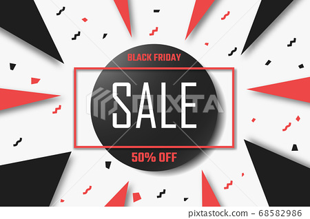 Black Friday special offer discount banner. 68582986
