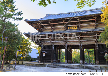 World heritage Todaiji evening view-lit up 68583012