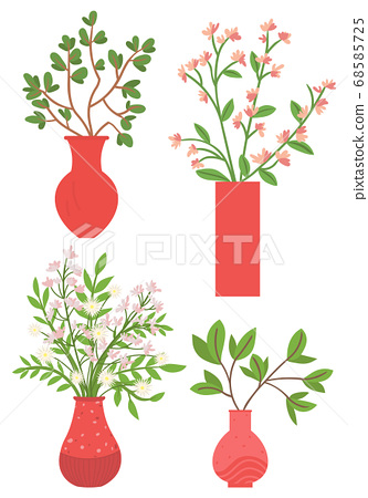 Houseplant in Vases, Flowers with Flourishing 68585725
