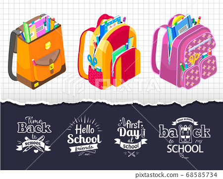 Hello School Friends Sketches and Bags for Kids 68585734