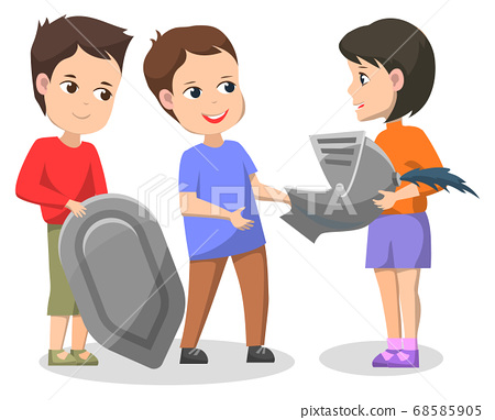 School History Club, Children Doing Installation 68585905