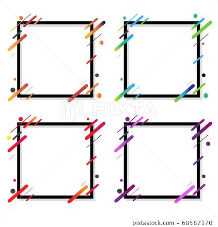 Web Banner Big Set Isolated White Background 68587170