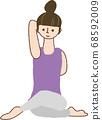 做瑜伽的女人 68592009