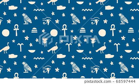埃及花紋矢量 68597444