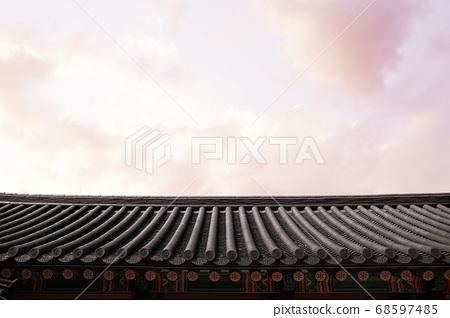 Korean traditional background, Korean landmark, traditional houses and buildings 68597485