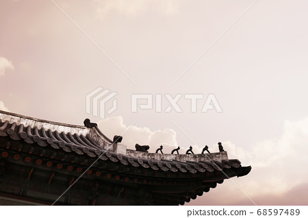 Korean traditional background, Korean landmark, traditional houses and buildings 68597489